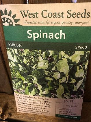 Seed - West Coast -Spinach Yukon
