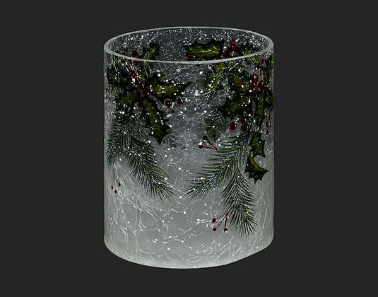 Glass Vase Candle Holder Holly