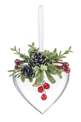 Krystal Pine Heart Ornament