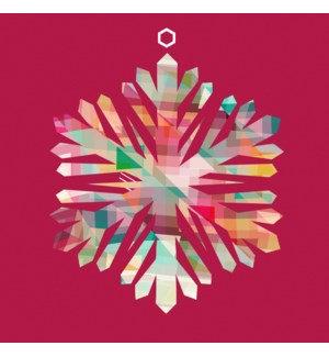 Napkin Luncheon - Coloured Snowflake