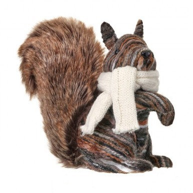 Faux Fur Forest Trail Squirrel