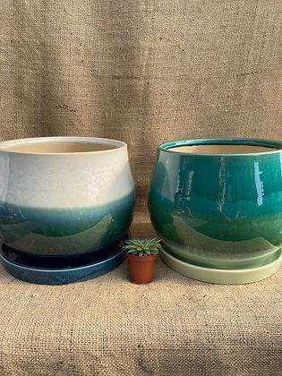 """Ceramic Pot  'Aldo'  8.5""""   (Select Colour)"""