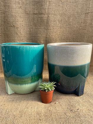 "Ceramic Pot 'Pjotr'  6""  (Select Colour)"