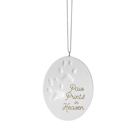 """Paw Prints in Heaven"" Ornament"