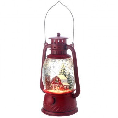 LED Lantern with Country Barn