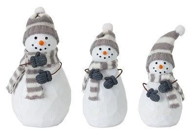 """Snowman 5"""" - 7.5"""" Grey/White"""