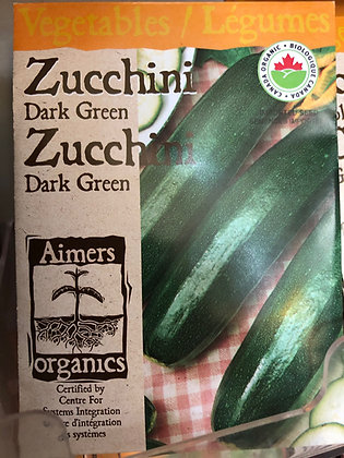 Seed - Aimers Organic - Zucchini Dark Green