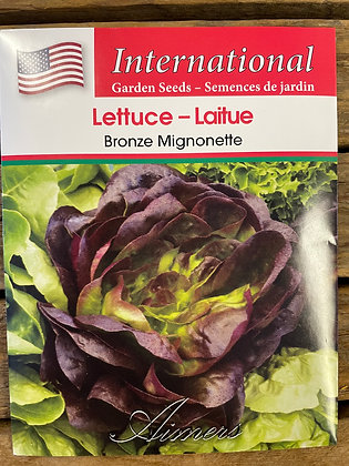 Lettuce Bronze Mignonette  -  Aimers International