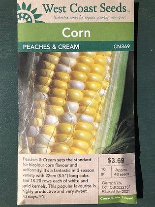Corn Peaches and Cream  -  West Coast Seed