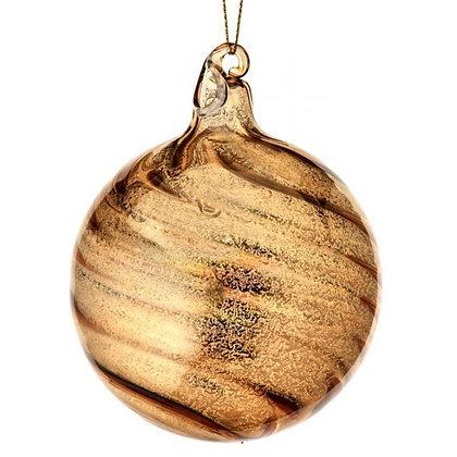 Gold Glass Ball Ornament