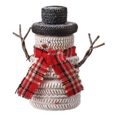 Country Tire Stack Snowman