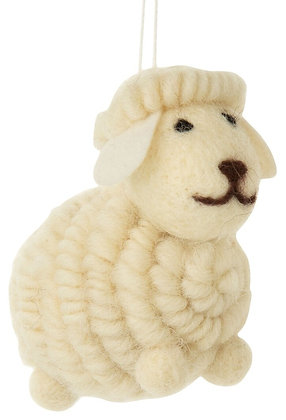 Yarn Sheep Ornament 3""