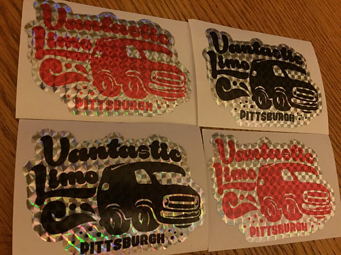 "Vantastic PGH Prism Stickers 4"" x 3"""