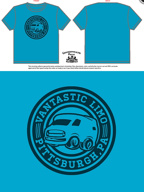 Vantastic PGH Logo on Caribbean Blue
