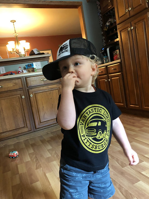TODDLER Shirt Vantastic PGH Logo on Black