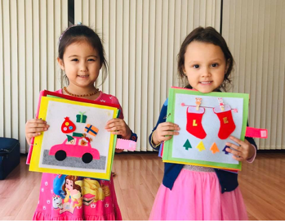Christmas family workshop: Making a fabric playbook (Sai Kung)