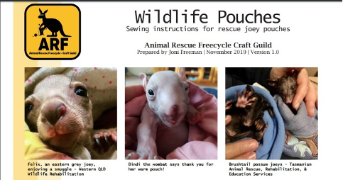Sewing Wildlife Pouches for Australia's injured animals