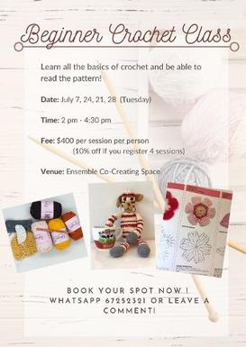 Crochet Class for Beginners (adults)