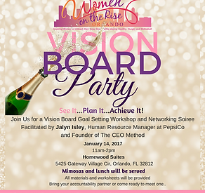 vision board party - Vision Board Party Invitation