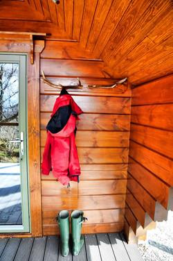 Mossy coat rack