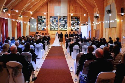 Highland Wedding ceremony, Main hall, Loch Torridon Community Centre
