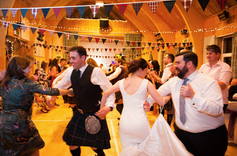 Party time!  A traditional wedding ceilidh
