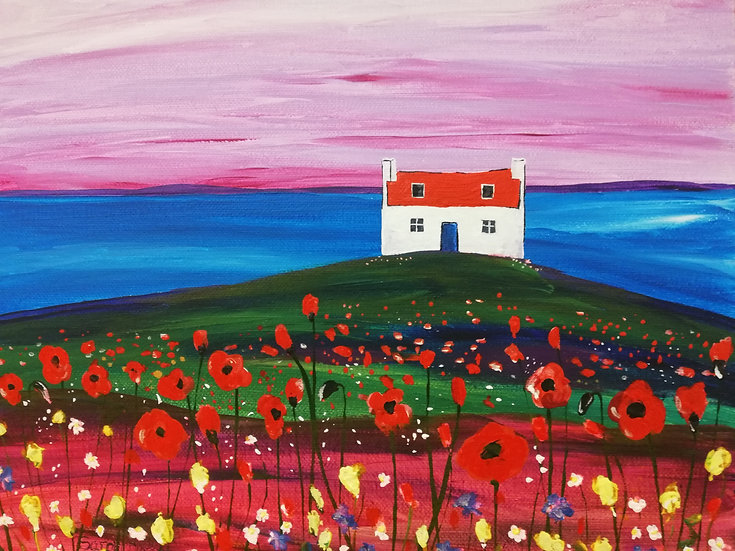Red Roof Cottage & Flowers