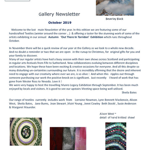 Gallery News - October 2019