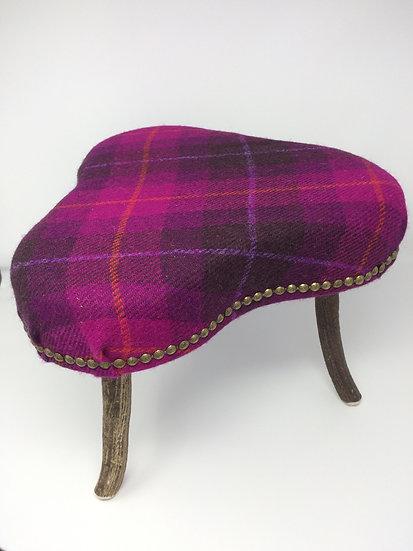 Tweed & hornfootstool by Sutherland Horncraft