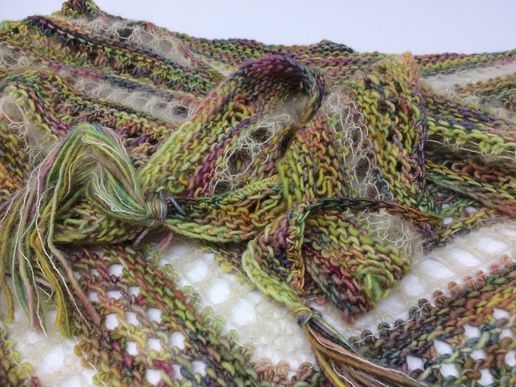 Hand knitted Shawl by Alison West