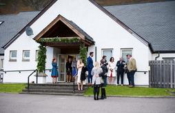 Torridon Community Centre main wedding main entrance