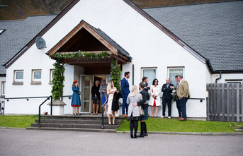 Torridon Community Centre main wedding main entrance