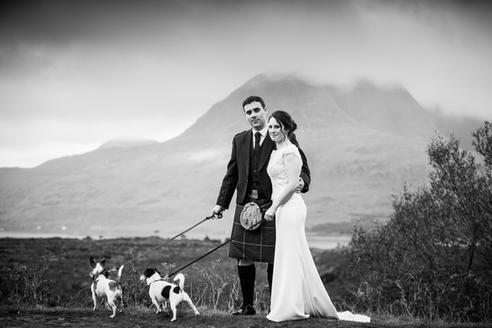 Torridon scenery as a backdrop to your wedding photos