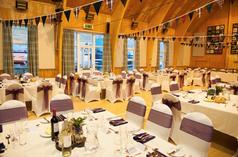Wedding reception for a traditional Highland wedding