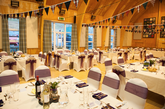 Wedding reception for a traditional Highland wedding