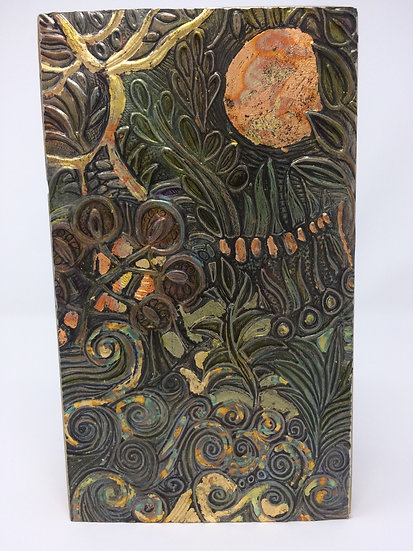 Pewter wall plaque by Jill Holmes