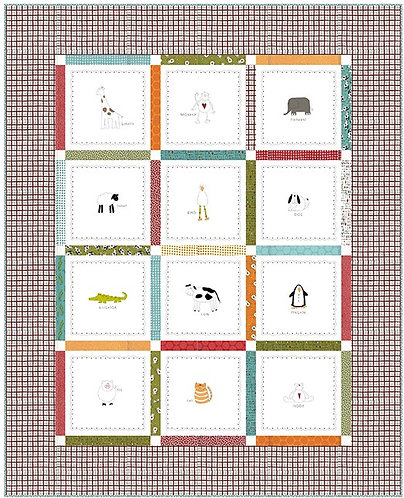 Animal Crackers 2 in 1 Quilt Kit