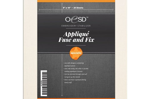 OESD Applique Fuse and Fix (8-1/2 in x 11 in sheets)