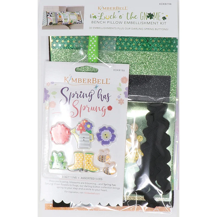 Kimberbell Luck O' the Gnome Bench Pillow Embellishment Kit