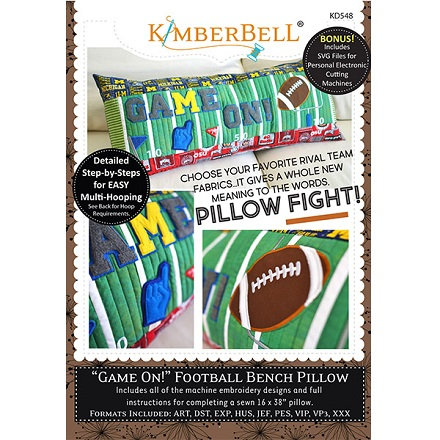 Kimberbell Game On Football Bench Pillow Machine Embroidery CD
