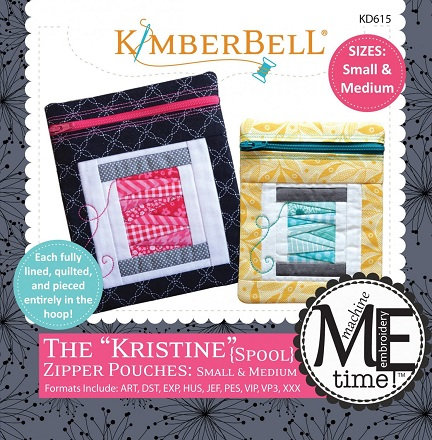 Kimberbell Kristine Spool Zip-Pouches Embroidery CD - Sm/Med