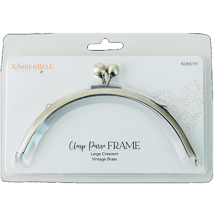 Kimberbell Clasp Purse Frame - Large Crescent