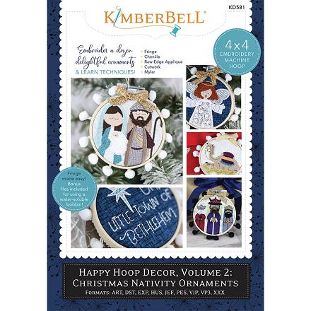 Kimberbell Happy Hoop Decor Volume 2: Christmas Nativity Ornaments Embroidery CD
