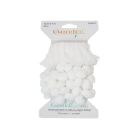 Kimberbell Tassels & Poms - White