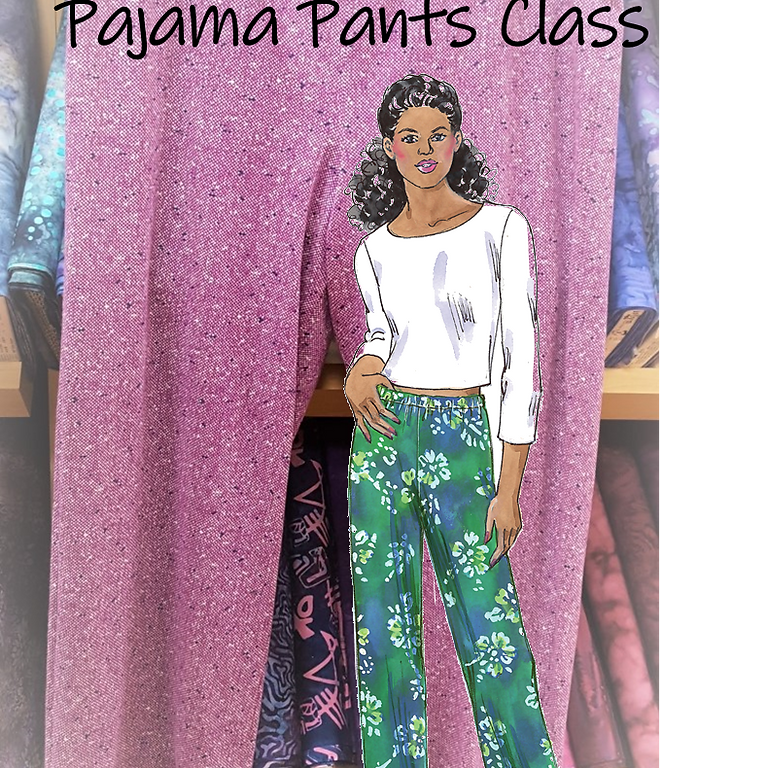 Pajama Pants in Knit on a Serger