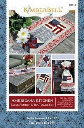 Kimberbell Americana Table Topper & Tea Towel Sewing Pattern & Instruction Book