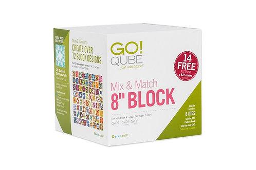 """AccuQuilt GO! Qube 8"""" Mix & Match Block"""