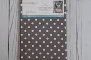 Kimberbell Polka Dot Tea Towels - Grey (2 pk)