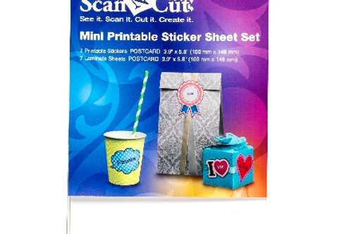 Brother Scan N Cut Mini Printable Sticker Set