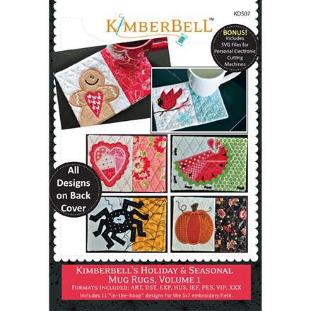 Kimberbell Holiday & Seasonal Mug Rugs Volume 1 Embroidery CD